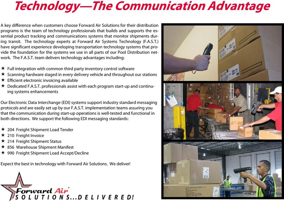 e technology experts at Forward Air Systems Te