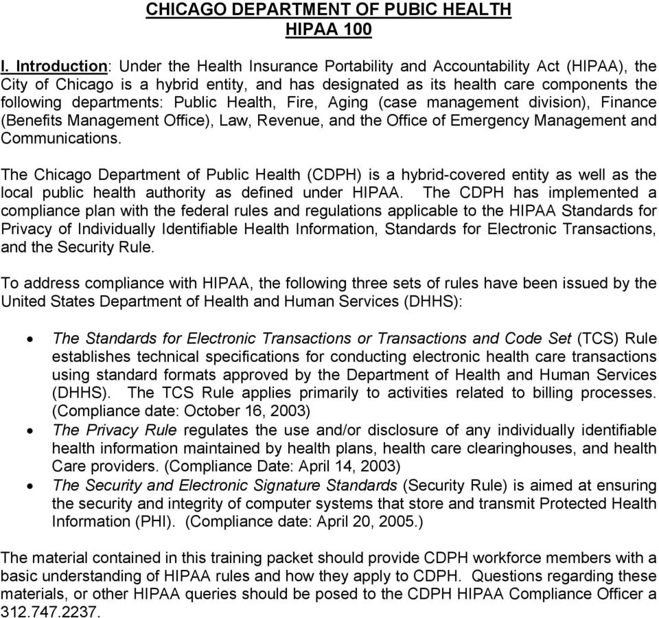 departments: Public Health, Fire, Aging (case management division), Finance (Benefits Management Office), Law, Revenue, and the Office of Emergency Management and Communications.
