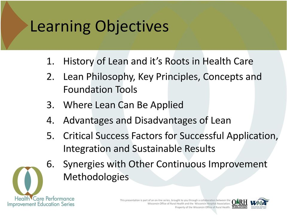 Where Lean Can Be Applied 4. Advantages and Disadvantages of Lean 5.