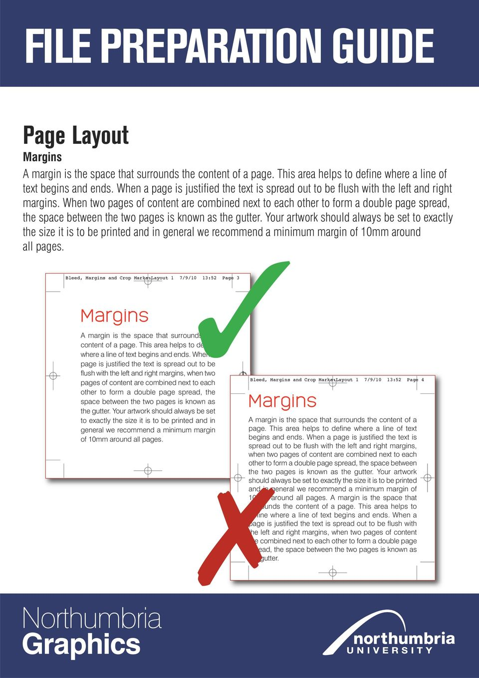 When two pages of content are combined next to each other to form a double page spread, the space between the two pages is known as the gutter.
