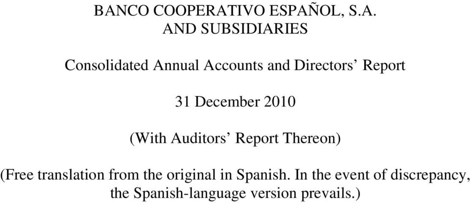 Auditors Report Thereon) (Free translation from the original in