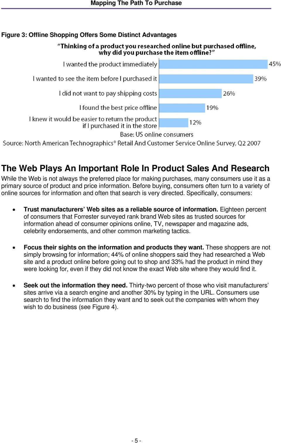 Specifically, consumers: Trust manufacturers Web sites as a reliable source of information.