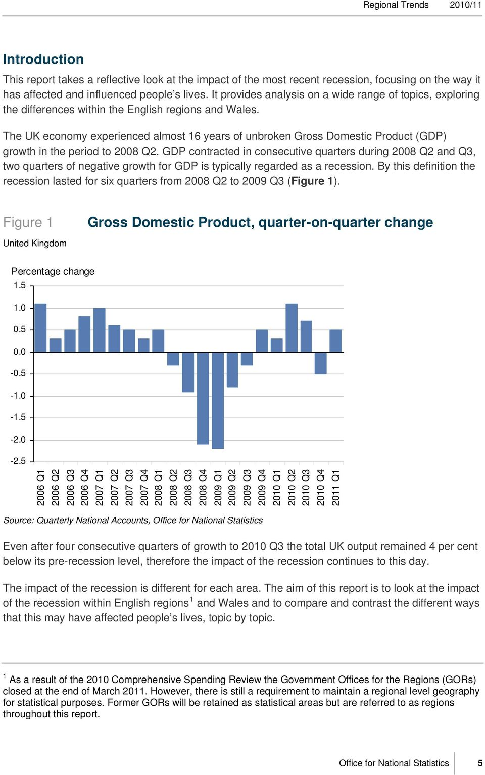 The UK economy experienced almost 16 years of unbroken Gross Domestic Product (GDP) growth in the period to 28 Q2.