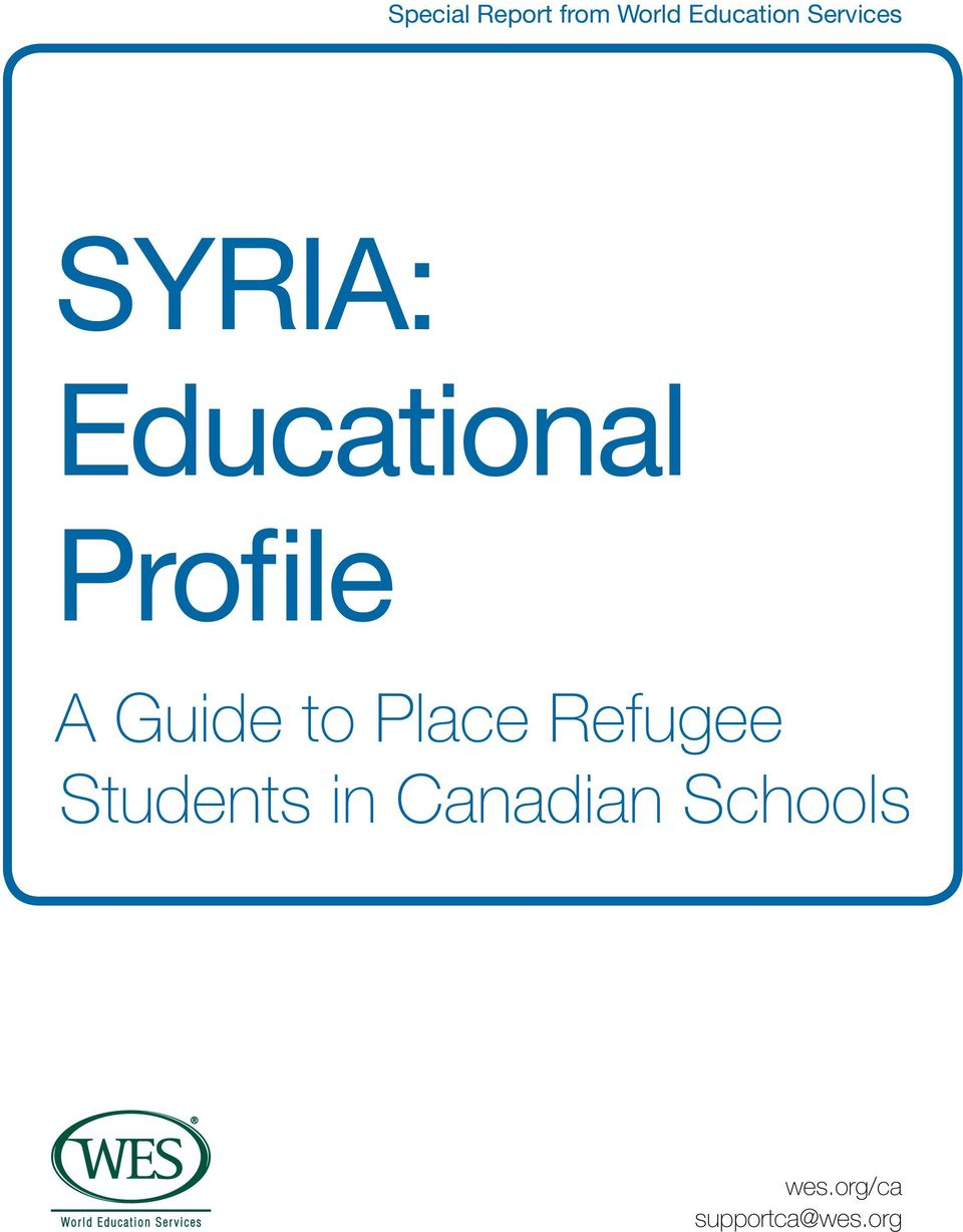 Guide to Place Refugee Students in