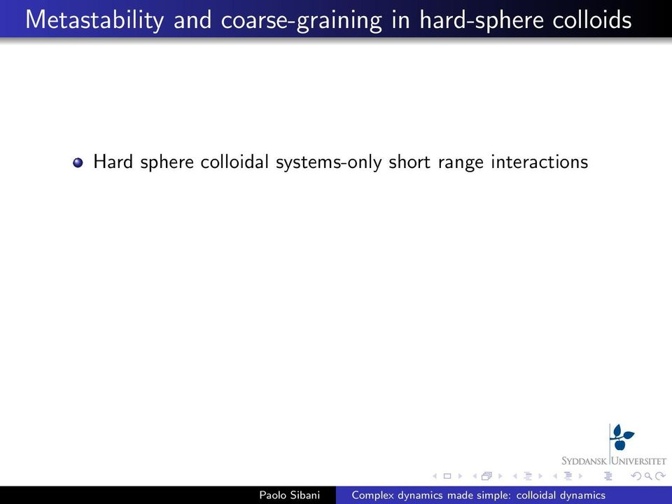 hard-sphere colloids Hard