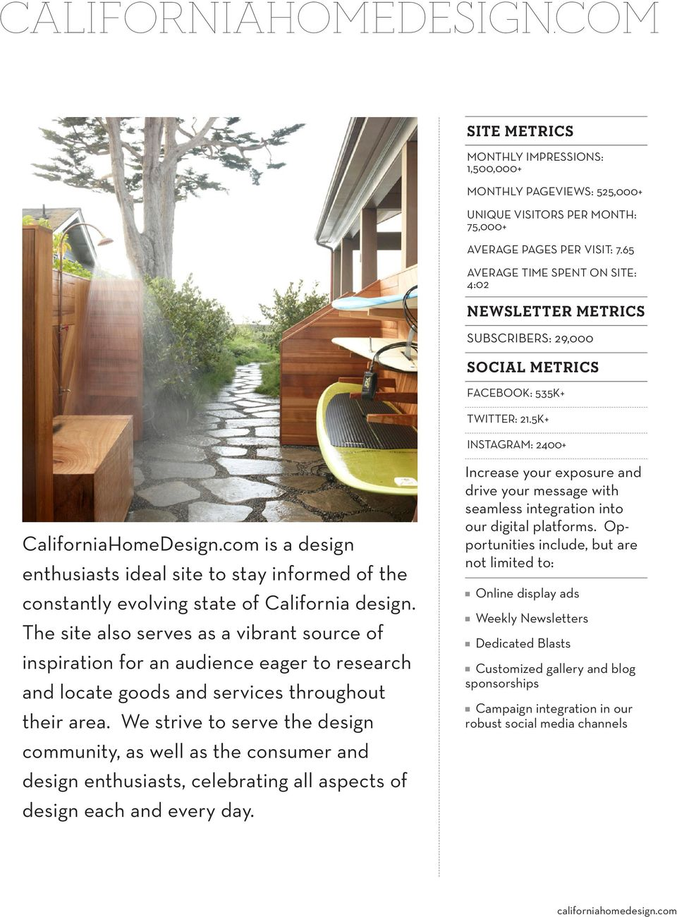 com is a design enthusiasts ideal site to stay informed of the constantly evolving state of California design.