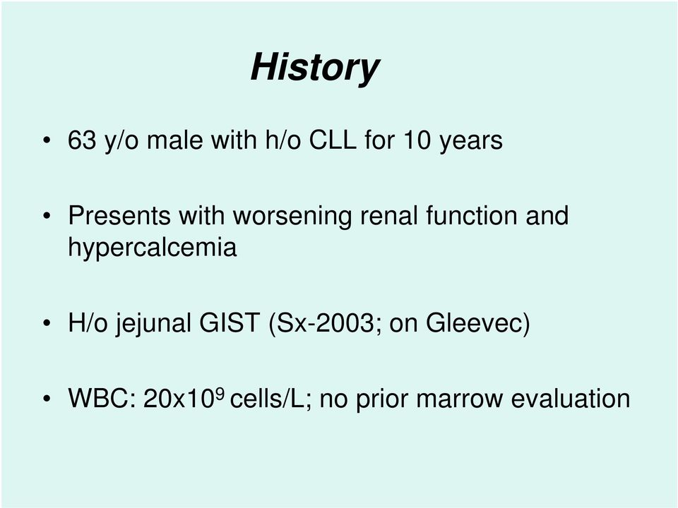 hypercalcemia H/o jejunal GIST (Sx-2003; on