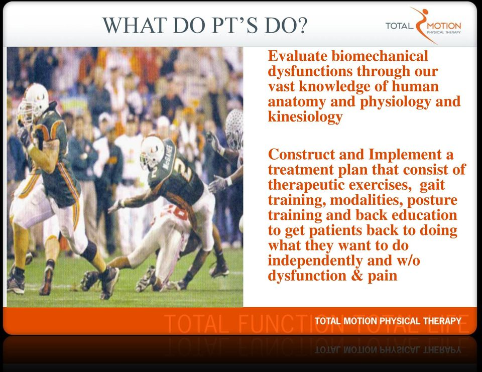 physiology and kinesiology Construct and Implement a treatment plan that consist of