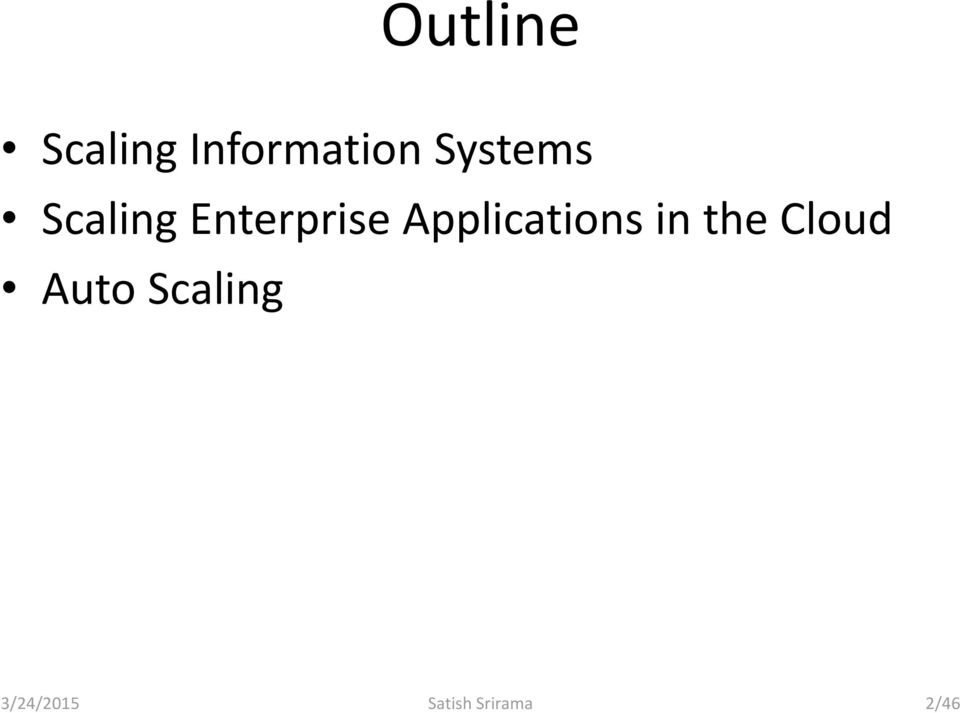Applications in the Cloud Auto