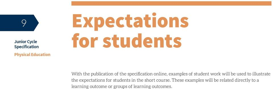 illustrate the expectations for students in the short course.