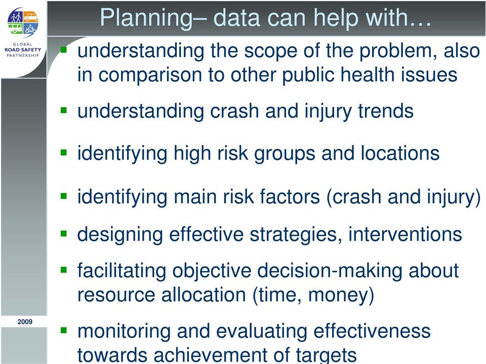 factors (crash and injury) designing effective strategies, interventions facilitating objective