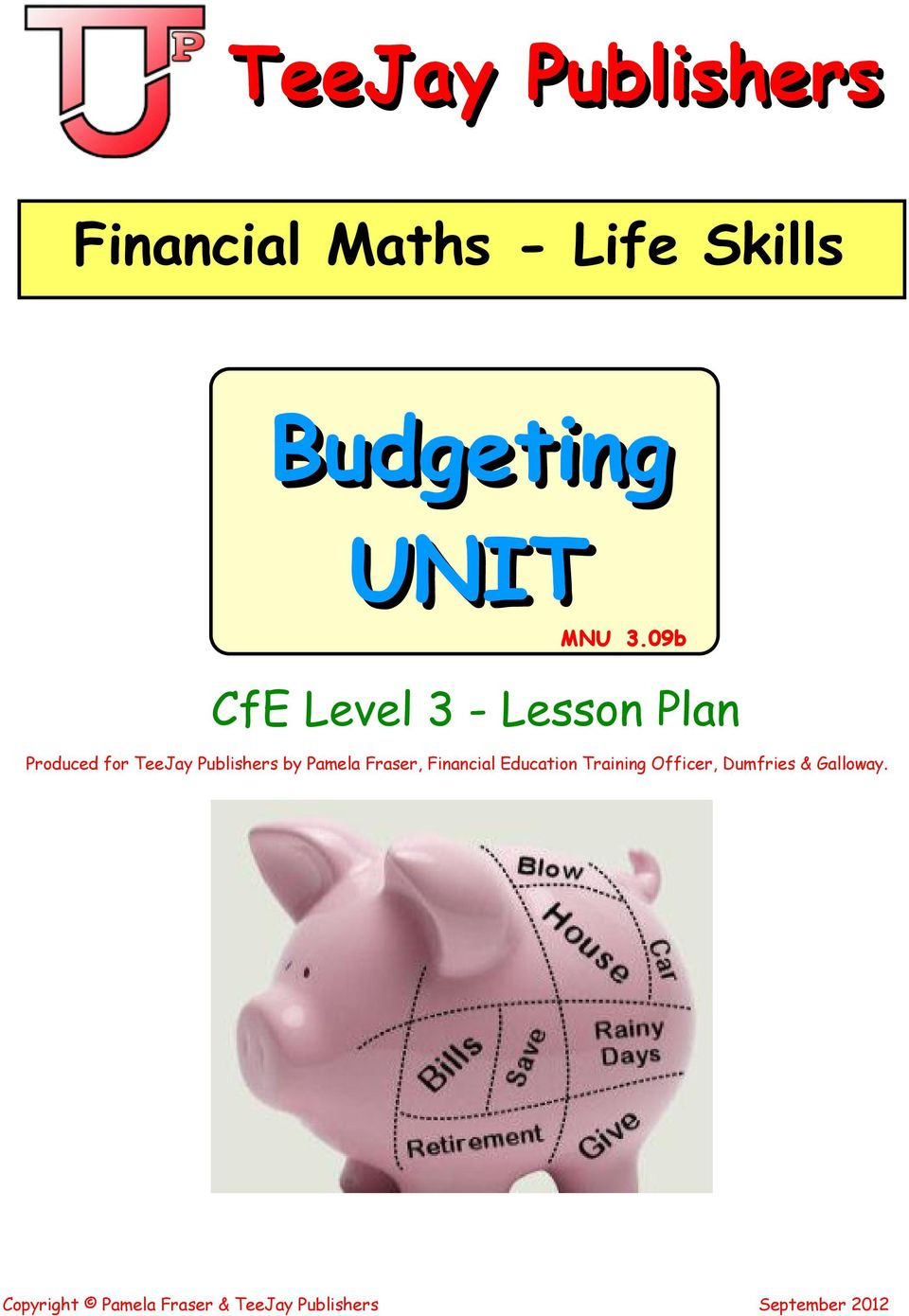 09b CfE Level 3 - Lesson Plan Produced for TeeJay