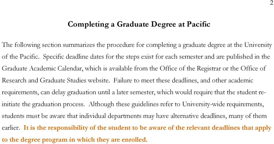 Graduate Studies website.