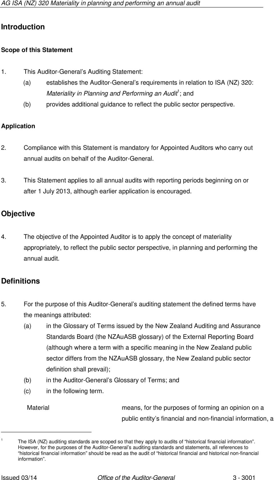 additional guidance to reflect the public sector perspective. Application 2.