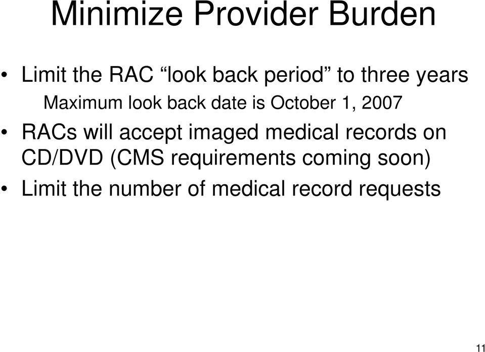 will accept imaged medical records on CD/DVD (CMS
