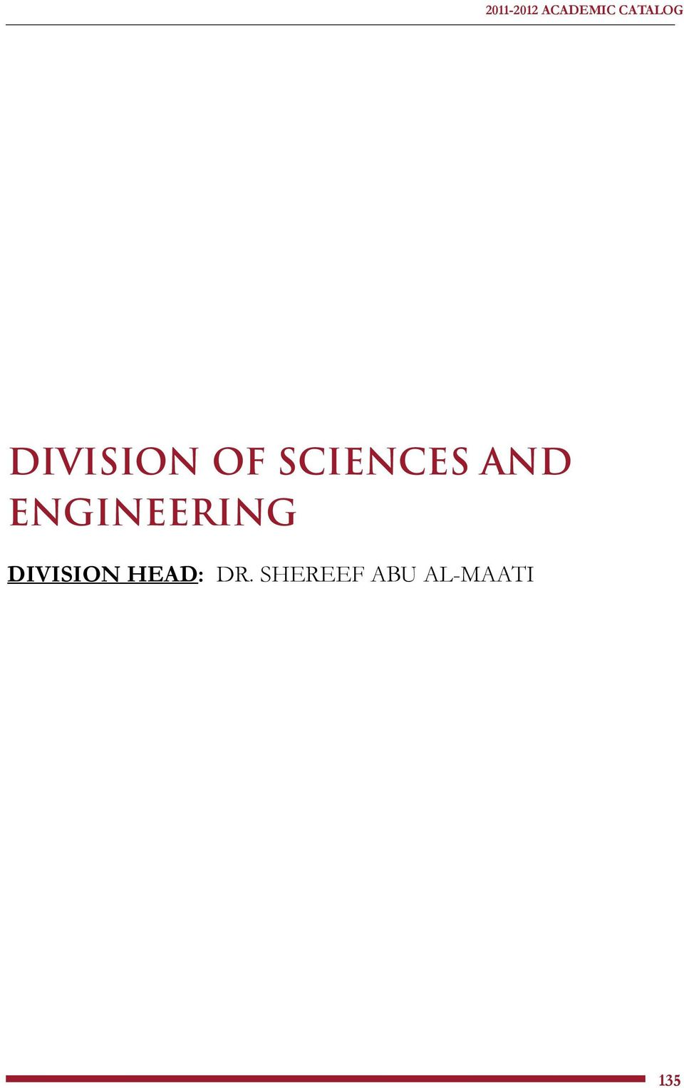ENGINEERING DIVISION HEAD: