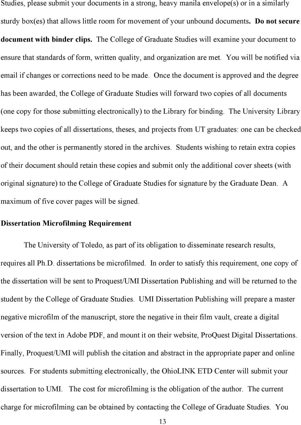 Ohiolink thesis submission
