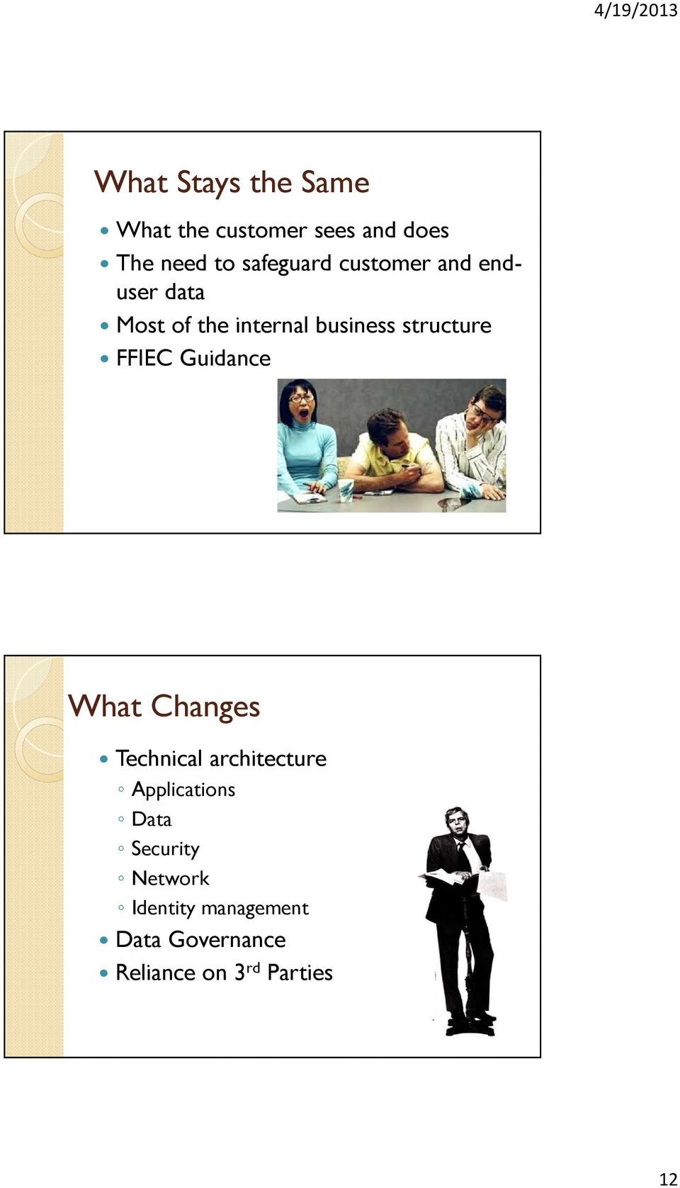 structure FFIEC Guidance What Changes Technical architecture