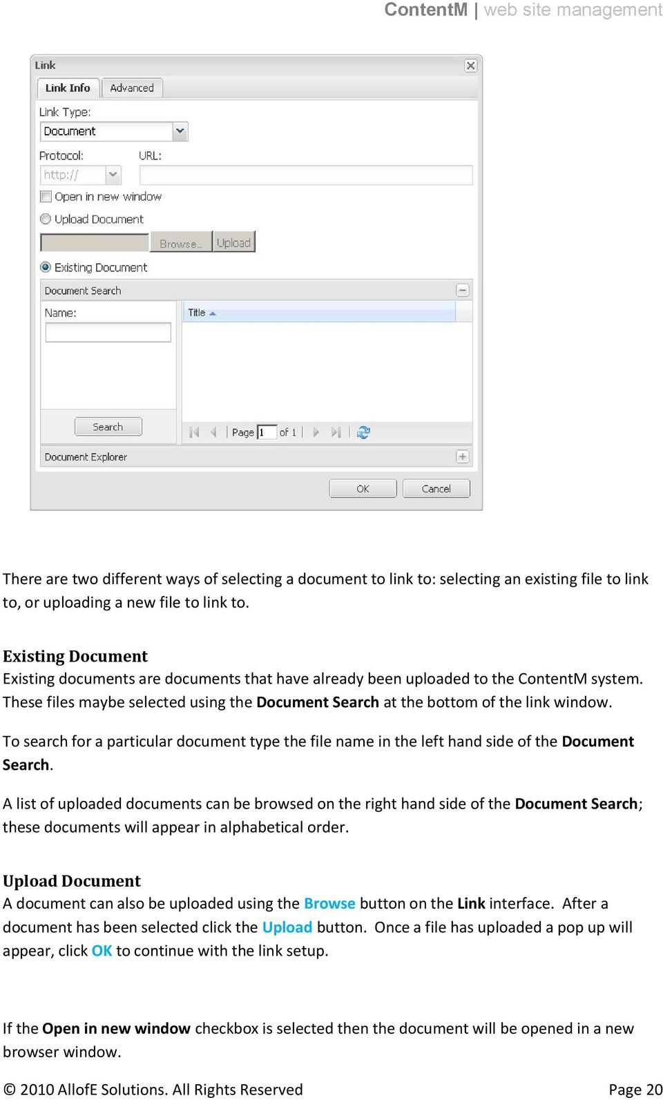 To search for a particular document type the file name in the left hand side of the Document Search.