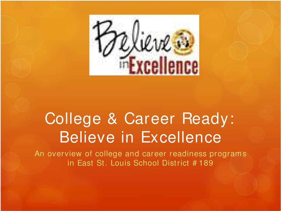 and career readiness programs in