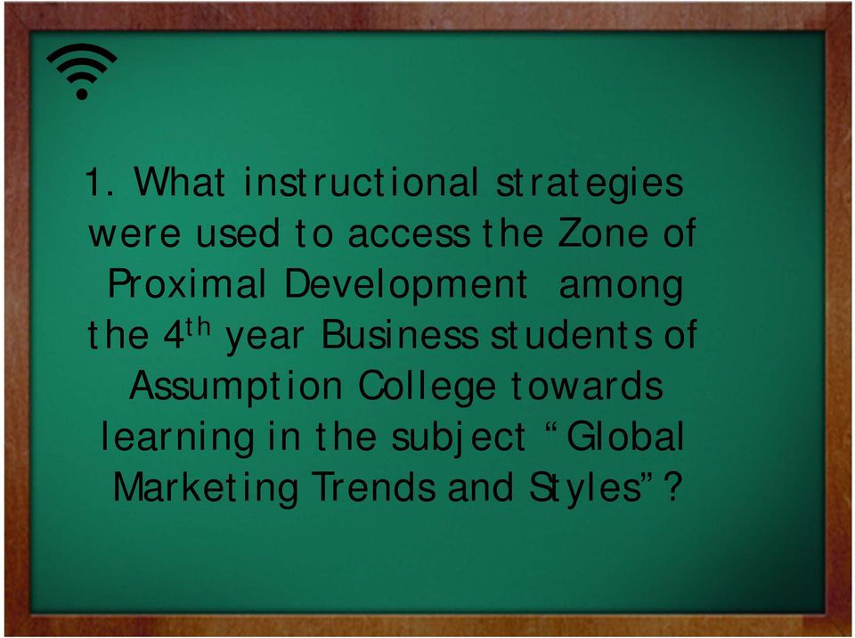 Business students of Assumption College towards