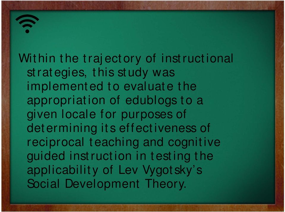 determining its effectiveness of reciprocal teaching and cognitive guided