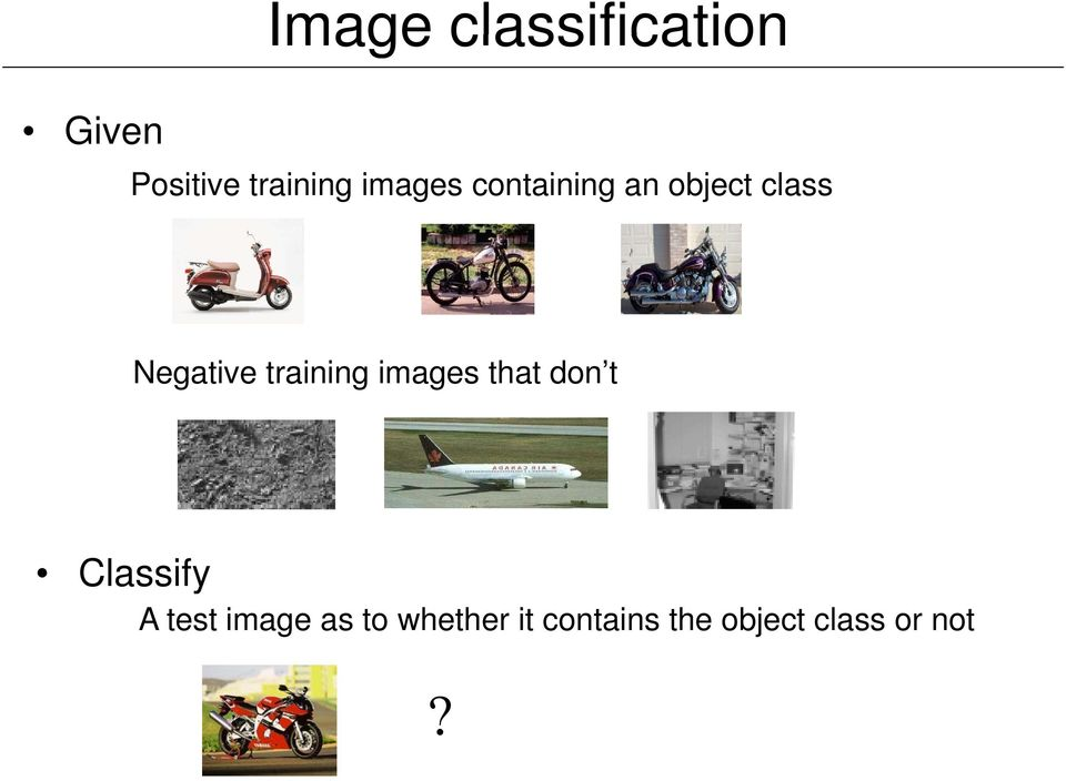 training images that don t Classify A test