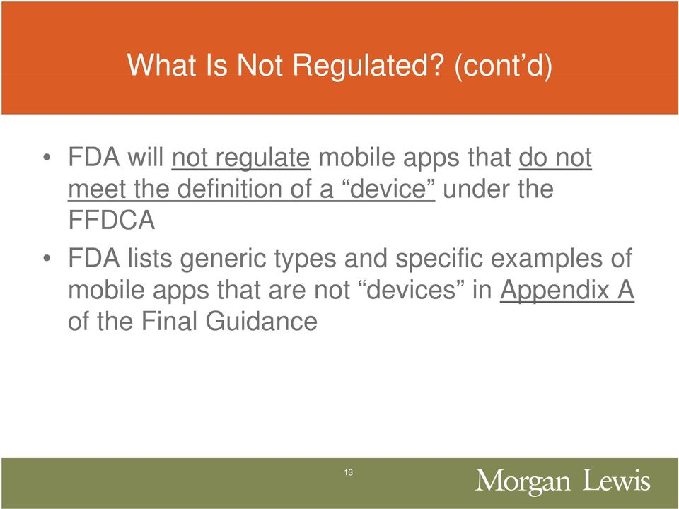 the definition of a device under the FFDCA FDA lists generic