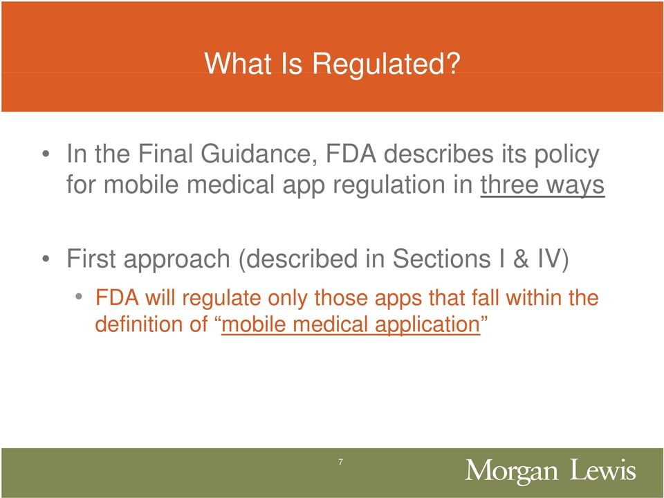 medical app regulation in three ways First approach (described