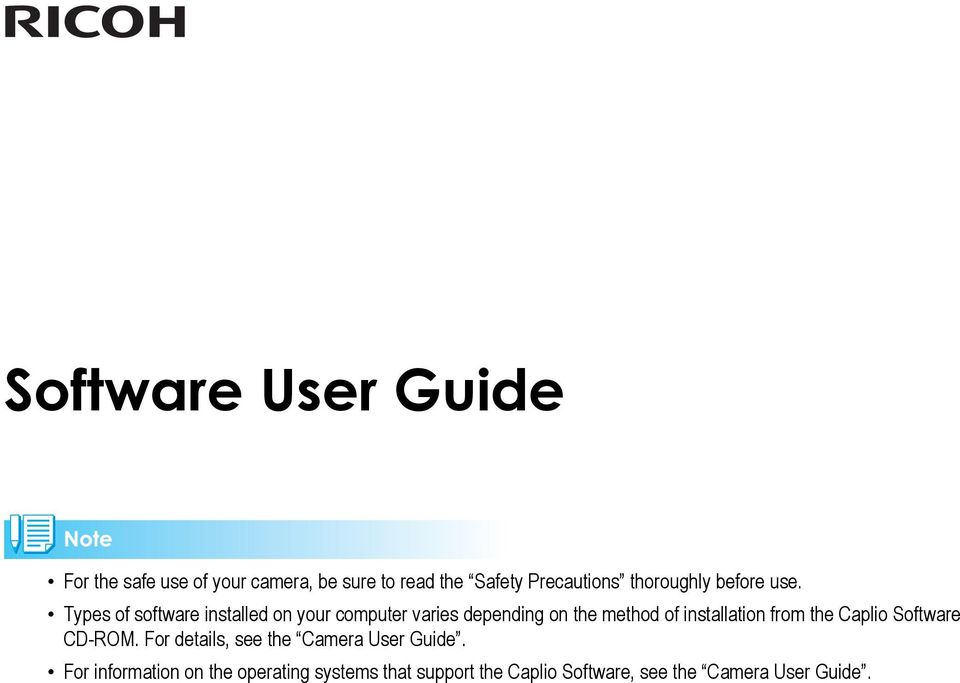 Types of software installed on your computer varies depending on the method of installation
