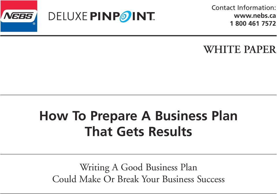 A Business Plan That Gets Results Writing A