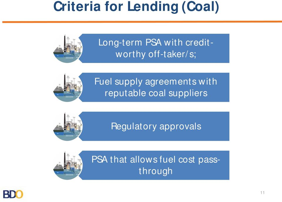 agreements with reputable coal suppliers