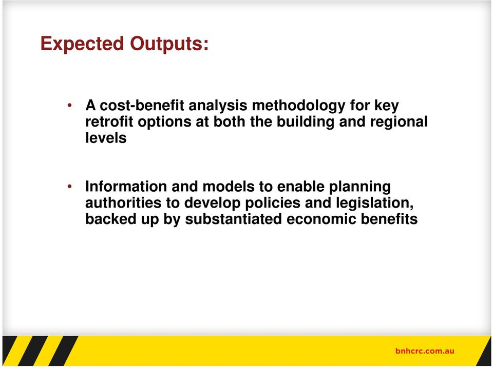 Information and models to enable planning authorities to