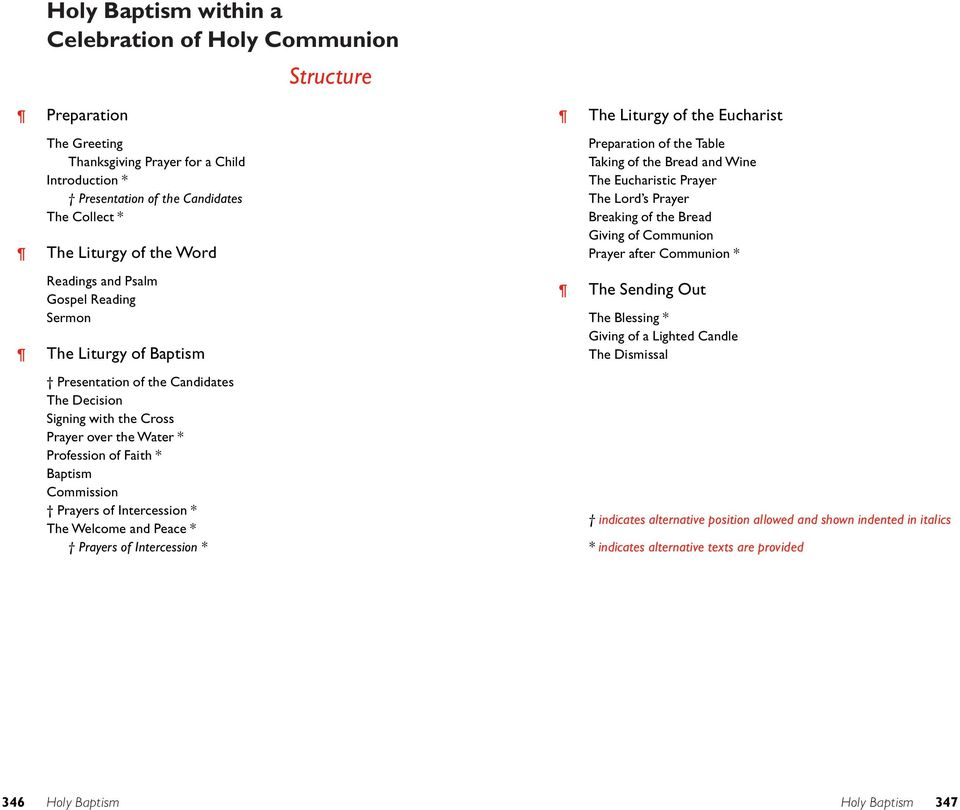 Commission Prayers of Intercession * The Welcome and Peace * Prayers of Intercession * The Liturgy of the Eucharist Preparation of the Table Taking of the Bread and Wine The Eucharistic Prayer The