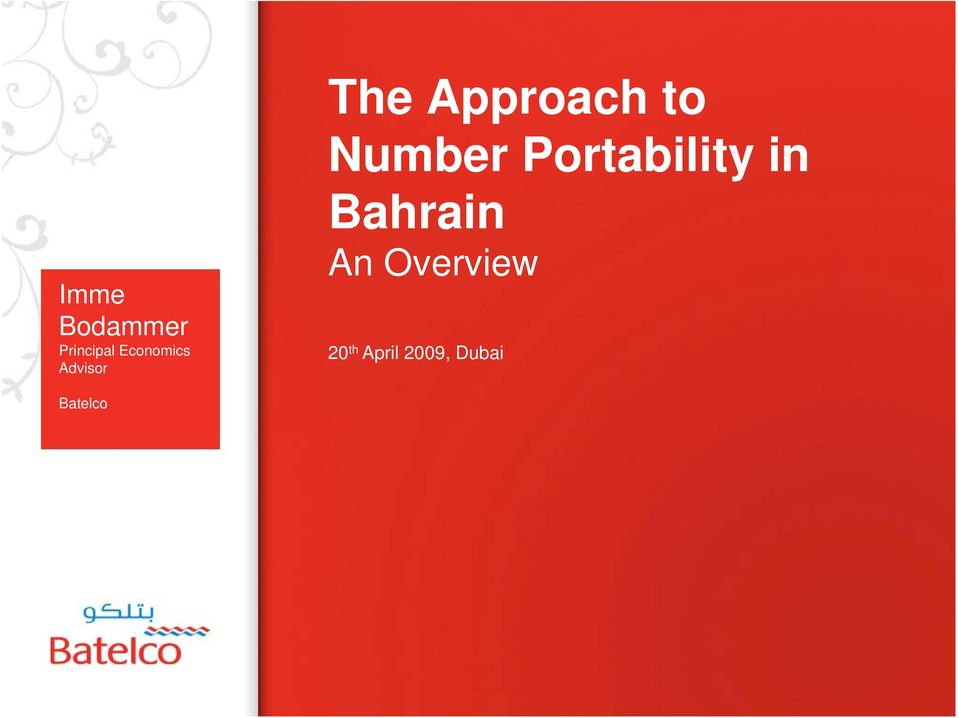 to Number Portability in Bahrain