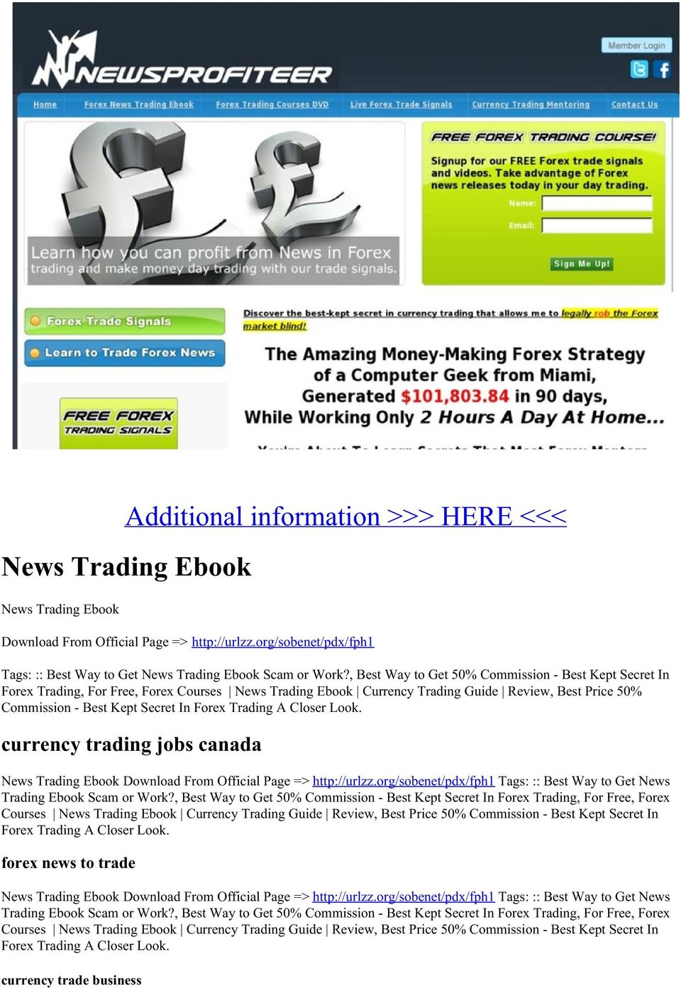 Trading A Closer Look. currency trading jobs canada News Trading Ebook Download From Official Page => http://urlzz.org/sobenet/pdx/fph1 Tags: :: Best Way to Get News Trading Ebook Scam or Work?