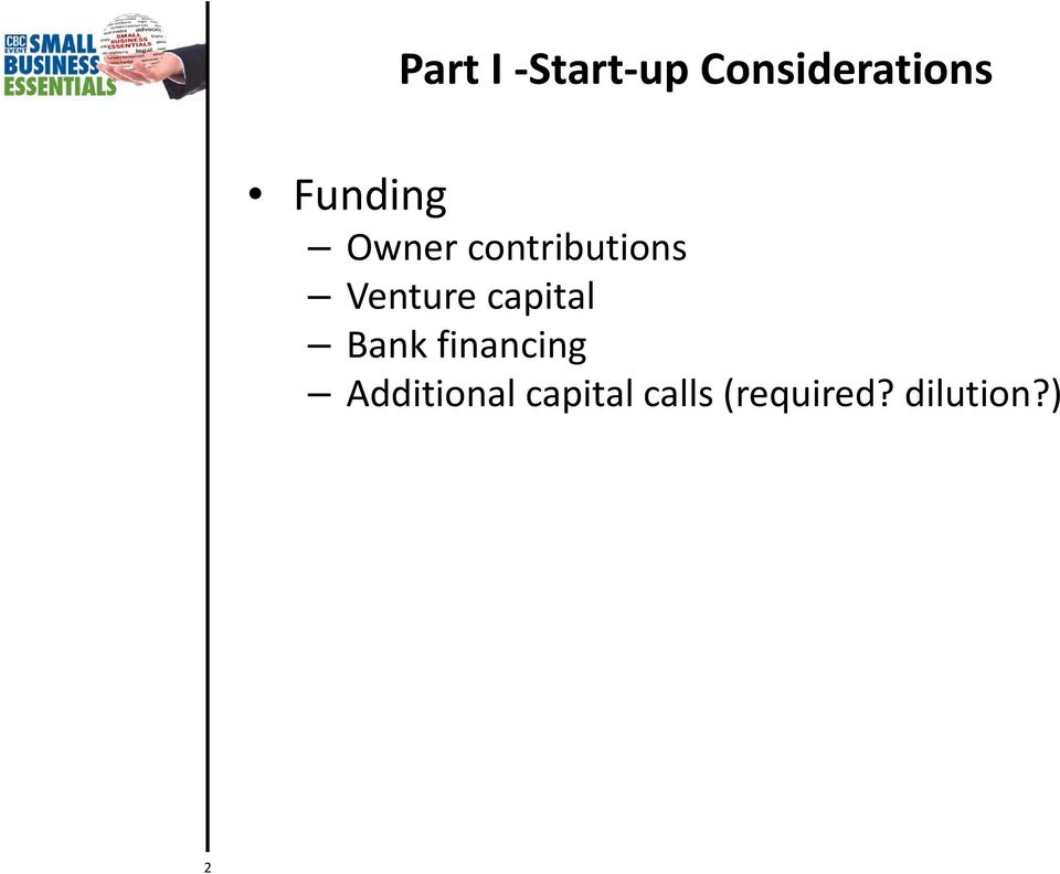 Venture capital Bank financing