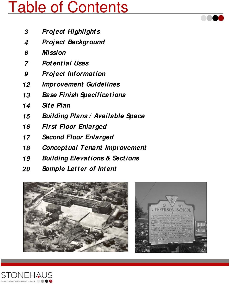 Specifications Site Plan Building Plans / Available Space First Floor Enlarged Second