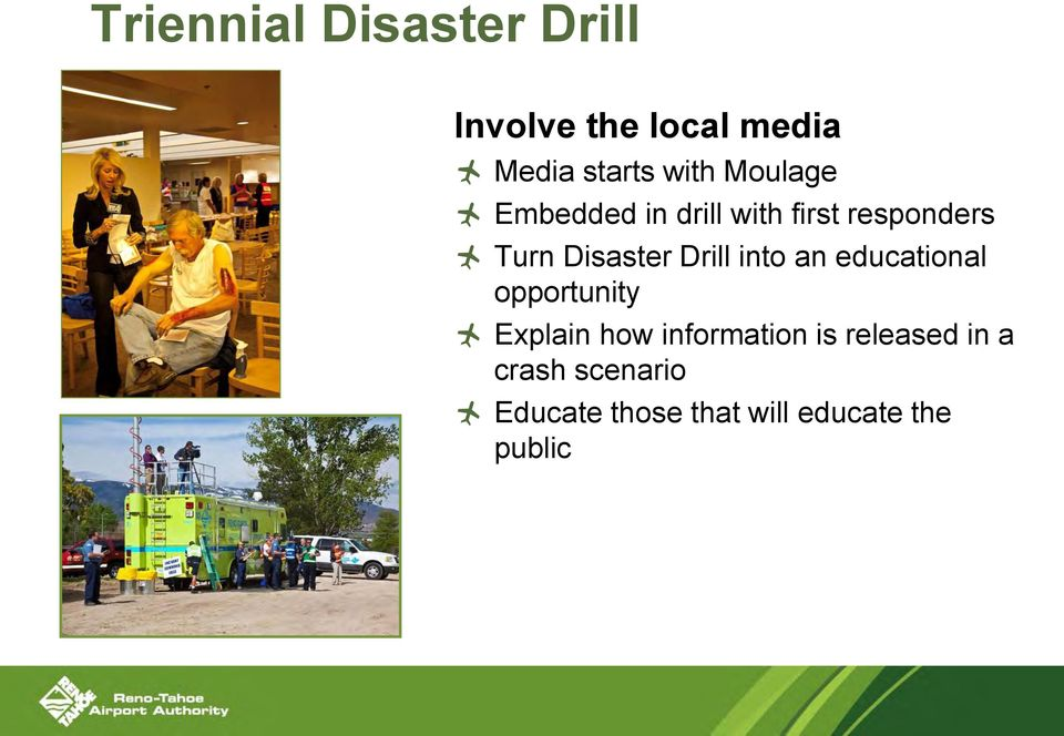 Drill into an educational opportunity Explain how information is