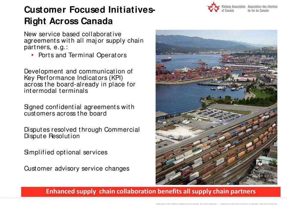 eements with all major supply chain partners, e.g.