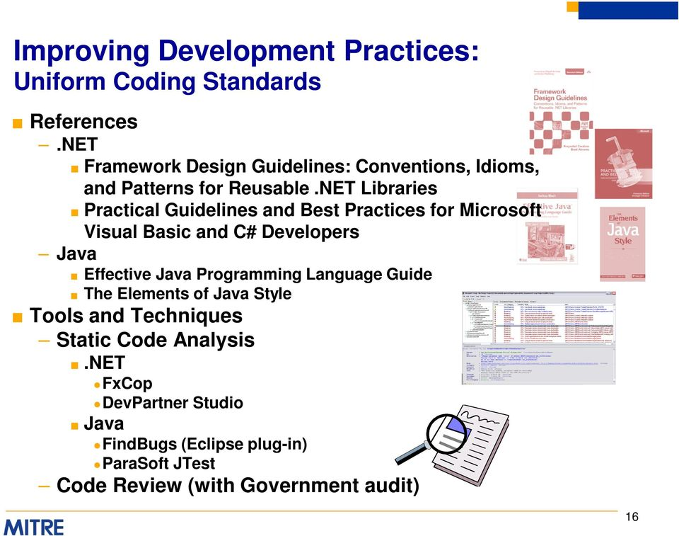 NET Libraries Practical Guidelines and Best Practices for Microsoft Visual Basic and C# Developers Java Effective Java