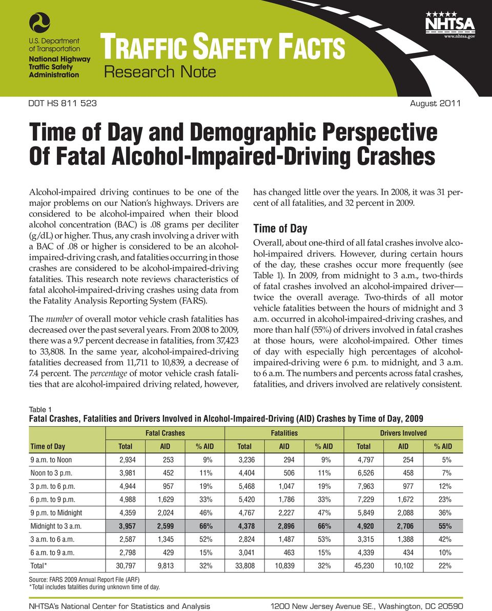 Thus, any crash involving a driver with a BAC of.