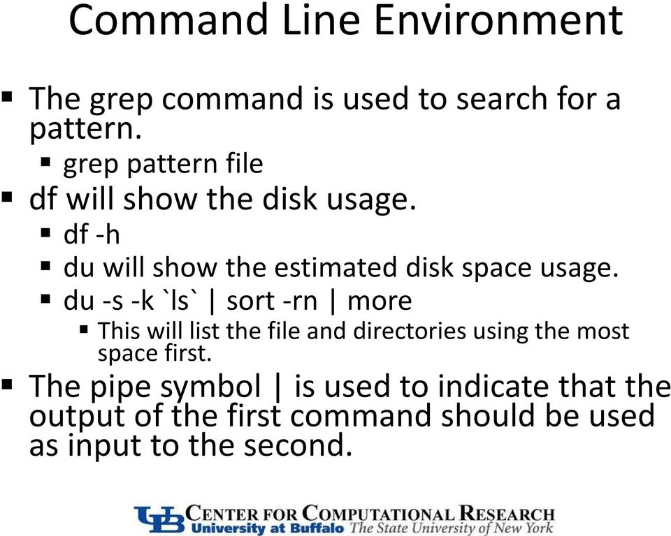 df -h du will show the estimated disk space usage.