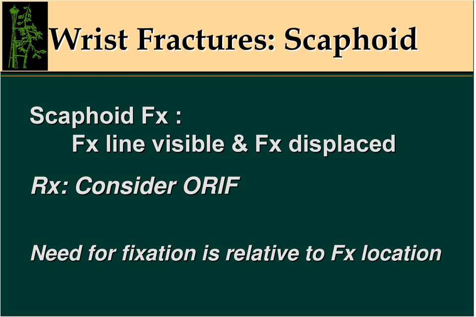Fx displaced Rx: Consider ORIF