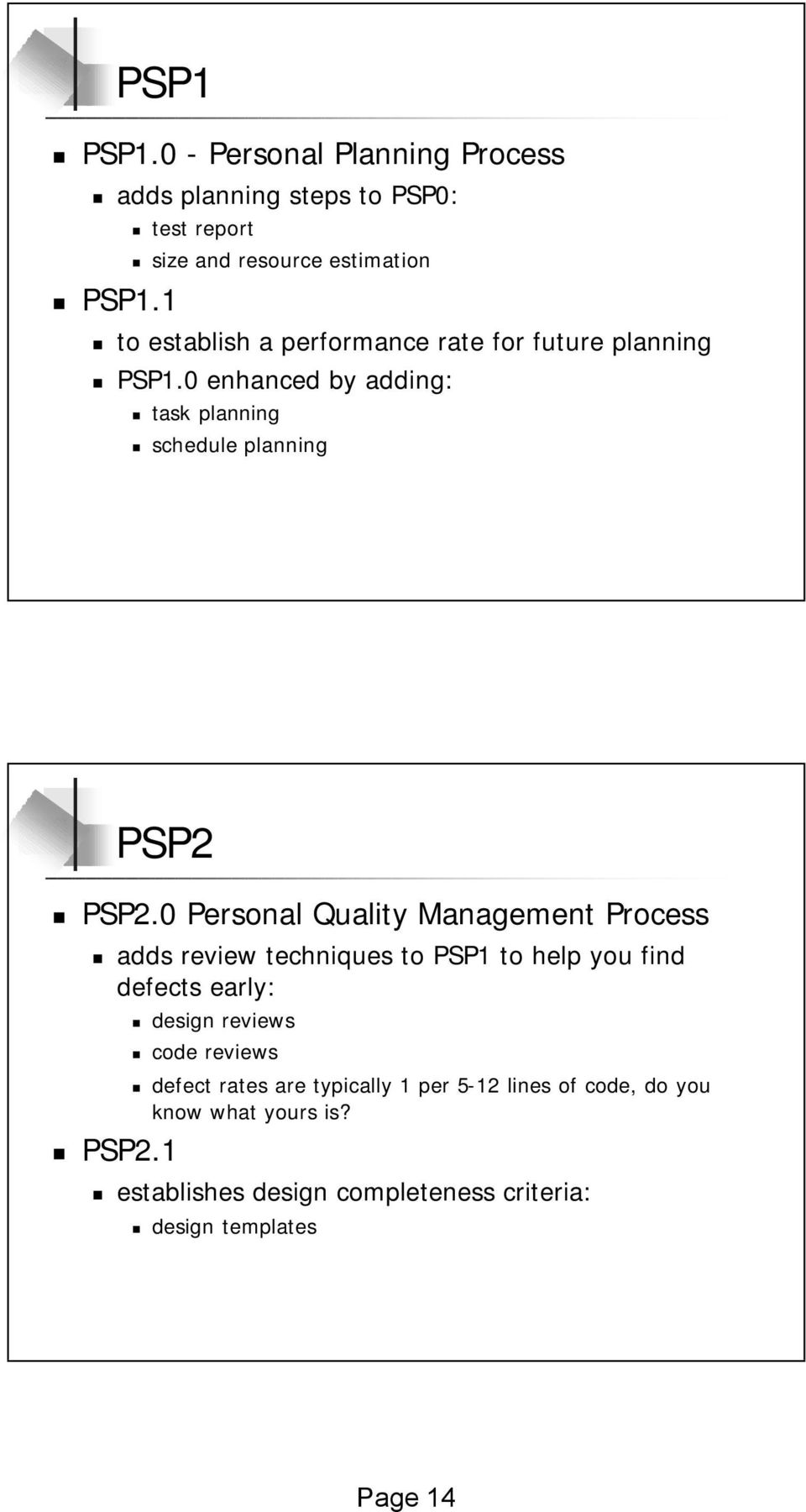 0 enhanced by adding: task planning schedule planning PSP2 PSP2.
