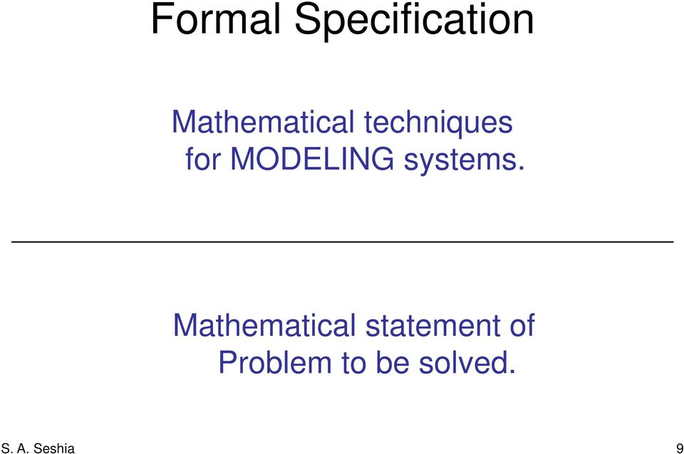 MODELING systems.