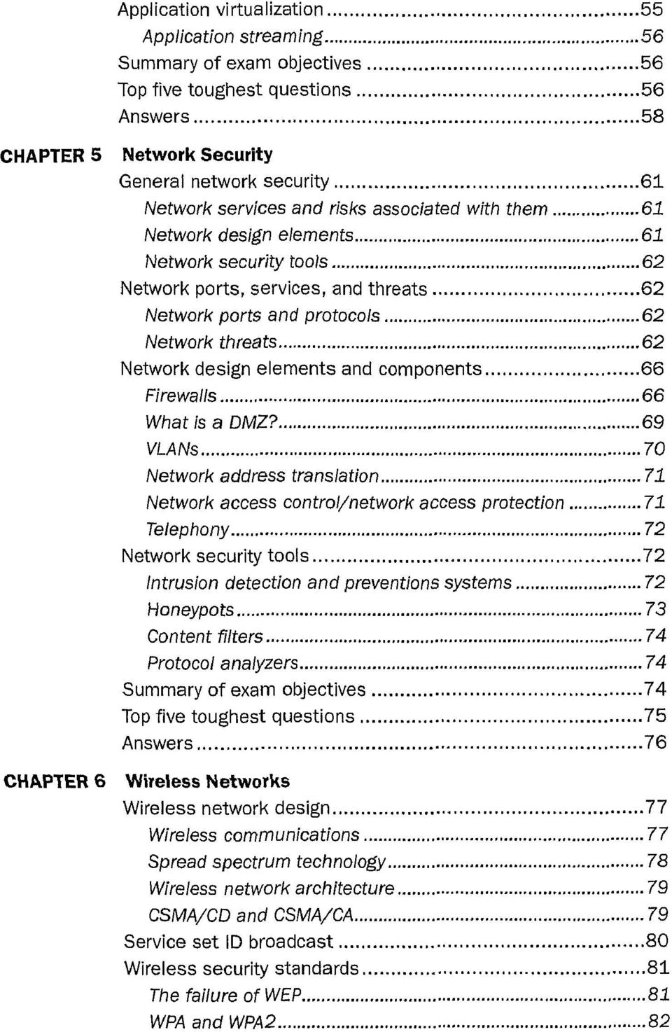 elements and components 66 Firewalls 66 What is a DMZ?