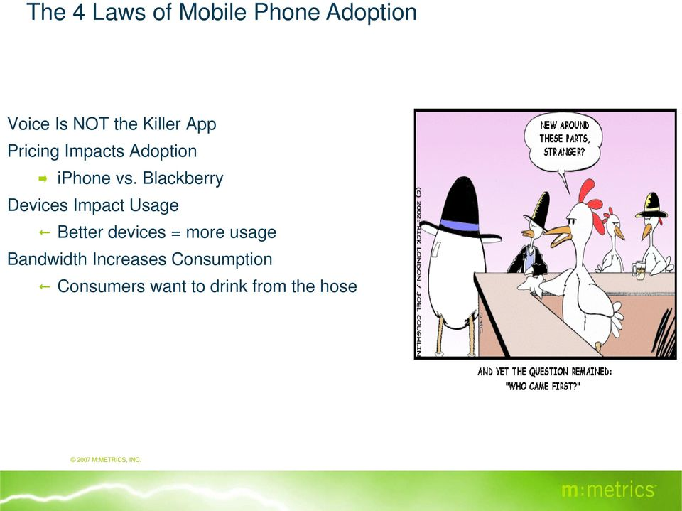 Blackberry Devices Impact Usage Better devices = more usage