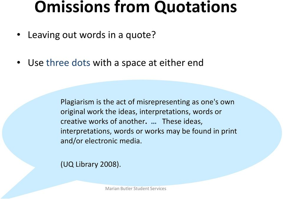 one's own original work the ideas, interpretations, words or creative works of