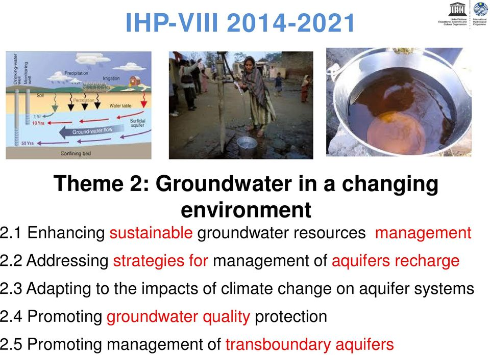 2 Addressing strategies for management of aquifers recharge 2.